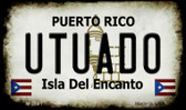 Utuado Puerto Rico State License Plate Magnet M-2881