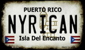 Nyrican Puerto Rico State License Plate Magnet M-4342