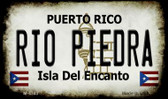 Rio Piedra Puerto Rico State License Plate Magnet M-4343