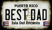 Best Dad Puerto Rico State License Plate Magnet M-6862