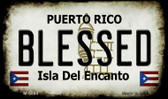 Blessed Puerto Rico State License Plate Magnet M-6864