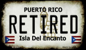 Retired Puerto Rico State License Plate Magnet M-6865