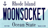 Woonsocket Rhode Island State License Plate Novelty Magnet M-11186
