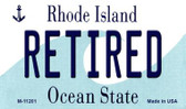 Retired Rhode Island State License Plate Novelty Magnet M-11201