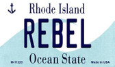 Rebel Rhode Island State License Plate Novelty Magnet M-11223