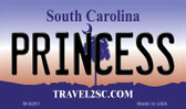 Princess South Carolina State License Plate Magnet M-6281