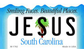 Jesus South Carolina State License Plate Magnet M-1762