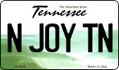 N Joy TN Tennessee State License Plate Magnet M-6435
