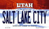 Salt Lake City Utah State License Plate Magnet M-10186