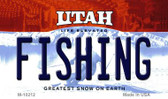 Fishing Utah State License Plate Magnet M-10212