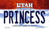 Princess Utah State License Plate Magnet M-10217