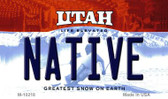 Native Utah State License Plate Magnet M-10218