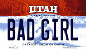 Bad Girl Utah State License Plate Magnet M-10223