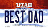 Best Dad Utah State License Plate Magnet M-10225