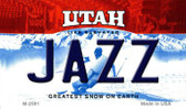 Jazz Utah State License Plate Magnet M-2591