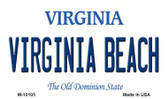 Virginia Beach Virginia State License Plate Magnet M-10105
