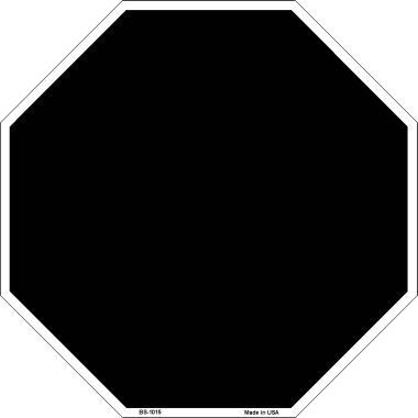 black dye sublimation octagon metal novelty stop sign