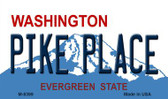 Pike Place Washington State License Plate Magnet M-8399