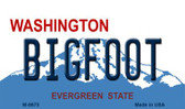 Bigfoot Washington State License Plate Magnet M-8670