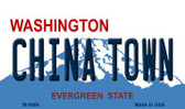 China Town Washington State License Plate Magnet M-8686
