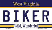 Biker West Virginia State License Plate Magnet M-6531