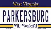 Parkersburg West Virginia State License Plate Magnet M-6539