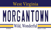 Morgantown West Virginia State License Plate Magnet M-6540