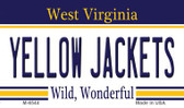 Yellow Jackets West Virginia State License Plate Magnet M-6544