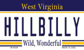 Hillbilly West Virginia State License Plate Magnet M-6548