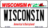 Wisconsin State License Plate Novelty Magnet M-10608