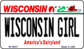 Wisconsin Girl State License Plate Novelty Magnet M-10631