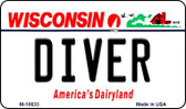 Diver Wisconsin State License Plate Novelty Magnet M-10633