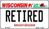 Retired Wisconsin State License Plate Novelty Magnet M-10637