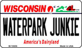 Waterpark Junkie Wisconsin State License Plate Novelty Magnet M-10656