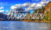 Wisconsin Colorful Lake Magnet M-11640