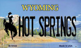 Hot Springs Wyoming State License Plate Magnet M-10528