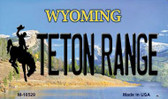 Teton Range Wyoming State License Plate Magnet M-10529