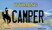 Camper Wyoming State License Plate Magnet M-10537