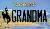 Grandma Wyoming State License Plate Magnet M-10541