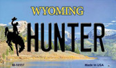Hunter Wyoming State License Plate Magnet M-10557
