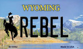 Rebel Wyoming State License Plate Magnet M-10562