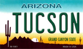 Tucson Arizona State License Plate Magnet M-1061