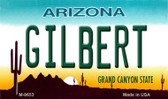 Gilbert Arizona State License Plate Magnet M-8653