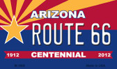 Route 66 Arizona Centennial State License Plate Magnet M-1800