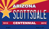 Scottsdale Arizona Centennial State License Plate Magnet M-6801