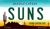 Suns Arizona State License Plate Magnet M-2586