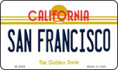 San Fransico California State License Plate Magnet M-4888