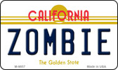 Zombie California State License Plate Magnet M-6857