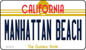 Manhattan Beach California State License Plate Magnet M-8819