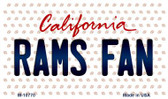 Rams Fan California State License Plate Magnet M-10770